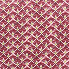 Tissu coton cretonne enduit Ecailles - Safran x 10cm