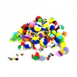 Tricolor Pom Poms (200 Pack)