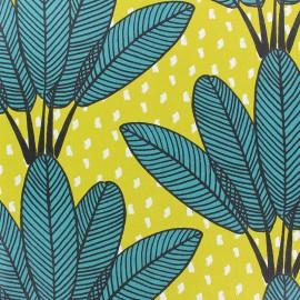 Tissu coton enduit mat Mabibi - vert x 20 cm