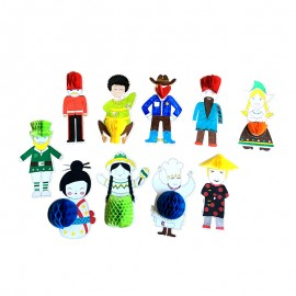 3D Figures Kit - Around the World