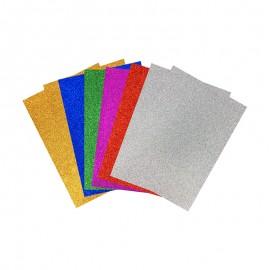 Papier Mousse EVA Adhésif (10 pcs) - Multi Pailleté