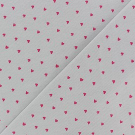 Poppy Jersey fabric - Grey Petit Coeur x 10cm