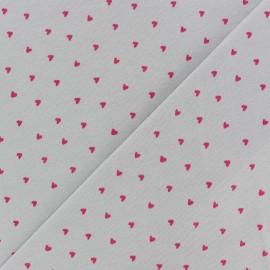 Tissu jersey Poppy Petit Coeur - gris x 10cm