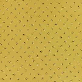 ♥ Coupon 100 cm X 155 cm ♥  Special Polo cotton fabric - mustard yellow Pointy