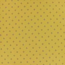Tissu jersey piqué spécial Polo Pointy - jaune moutarde x 10cm
