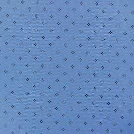 Special Polo cotton fabric - light blue Pointy x 10cm