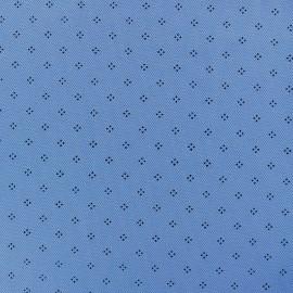 Tissu jersey piqué spécial Polo Pointy - bleu ciel x 10cm