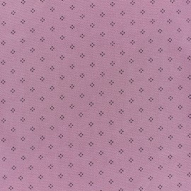 Special Polo cotton fabric - old pink Pointy x 10cm