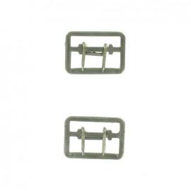 Boucle gilet 23mm bronzé x2