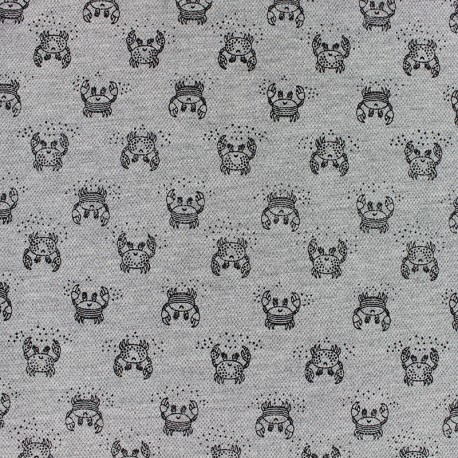 Special Polo cotton fabric - grey Crab x 10cm