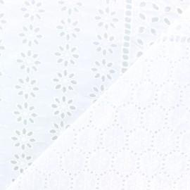 Openwork cotton fabric - white Coachella x 10cm