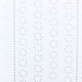 Openwork cotton fabric - white Coachella x 10cm