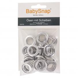 Oeillets pour Pince BabySnap® PRO (20 pcs) - Argent