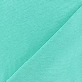 Jersey tubulaire bord-côte - vert menthe x 10cm