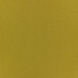 Jersey tubulaire bord-côte - jaune moutarde x 10cm