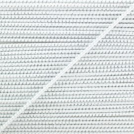 2 mm Elastic Cord - White Eclipse x 1m