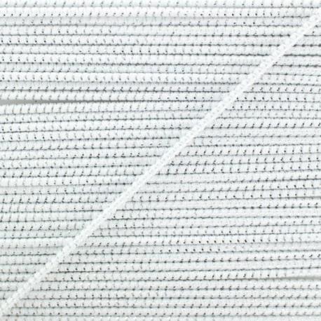 2 mm Elastic Cord - White Eclipse x 1m