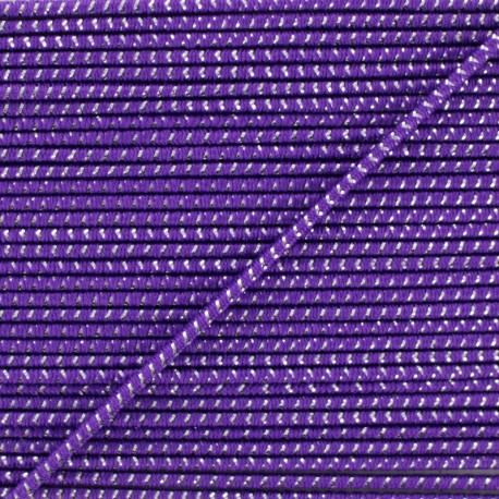 2 mm Elastic Cord - Purple Eclipse x 1m