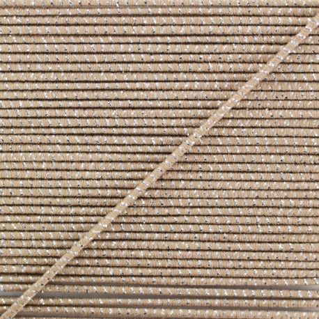 2 mm Elastic Cord - Taupe Eclipse x 1m