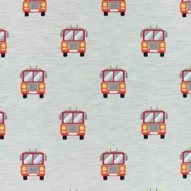 Tissu sweat léger Poppy Pimpon ! - écru x 10cm