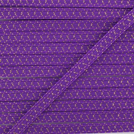 6 mm Flat Elastic - Purple Comete x 1m
