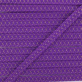 Élastique Plat Comète 6 mm - Violet x 1m