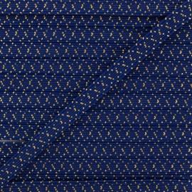6 mm Flat Elastic - Navy Blue Comete x 1m