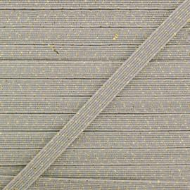 6 mm Flat Elastic - Grey Comete x 1m