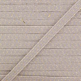 Élastique Plat Comète 6 mm - Argile x 1m