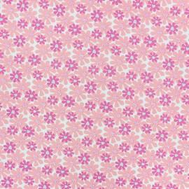 Tissu coton Florida - rose x 10cm
