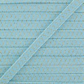 Élastique Plat Comète 6 mm - Bleu Azurin x 1m
