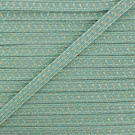 6 mm Flat Elastic - Sage Green Comete x 1m