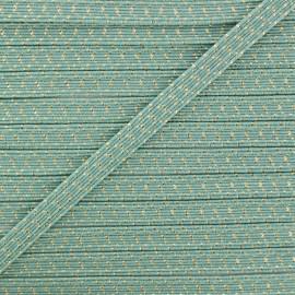 Élastique Plat Comète 6 mm - Vert Sauge x 1m
