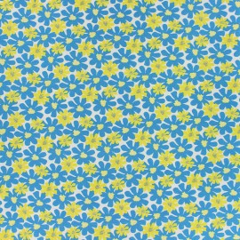 Cotton fabric - Blue Florida x 10cm
