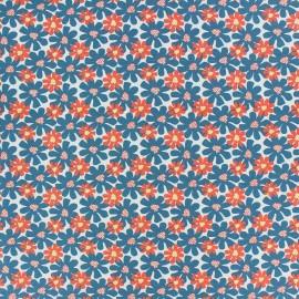 Tissu coton Florida - bleu paon x 10cm