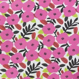 Tissu coton Nola - rose x 10cm