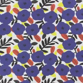 Tissu coton Nola - bleu x 10cm