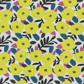 Tissu coton Nola - jaune x 10cm