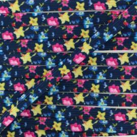 Élastique Plat 9 mm - Rêverie Florale x 1m