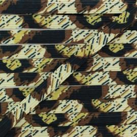 Élastique Plat 9 mm - Abstract Pattern x 1m