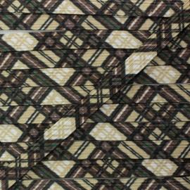 Élastique Plat 9 mm - Tartan x 1m