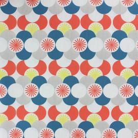 Cotton fabric - orange Gretna x 10cm