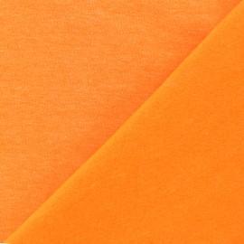 Tissu sweat fluo - orange x 10 cm