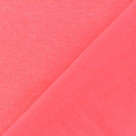 Tissu sweat fluo - rose x 10cm