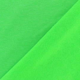 Sweatshirt fabric - Neon green x 10 cm