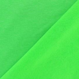 Tissu sweat fluo - vert x 10cm