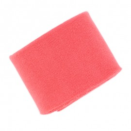 Poppy Plain Edging Fabric (135x7cm) - Coral