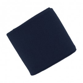 Poppy Plain Edging Fabric (135x7cm) - Navy