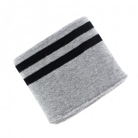 Poppy Edging Fabric (135x7cm) - Grey/Black Double Stripe