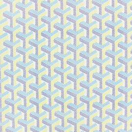 Cotton fabric - Blue Phoenix x 10cm